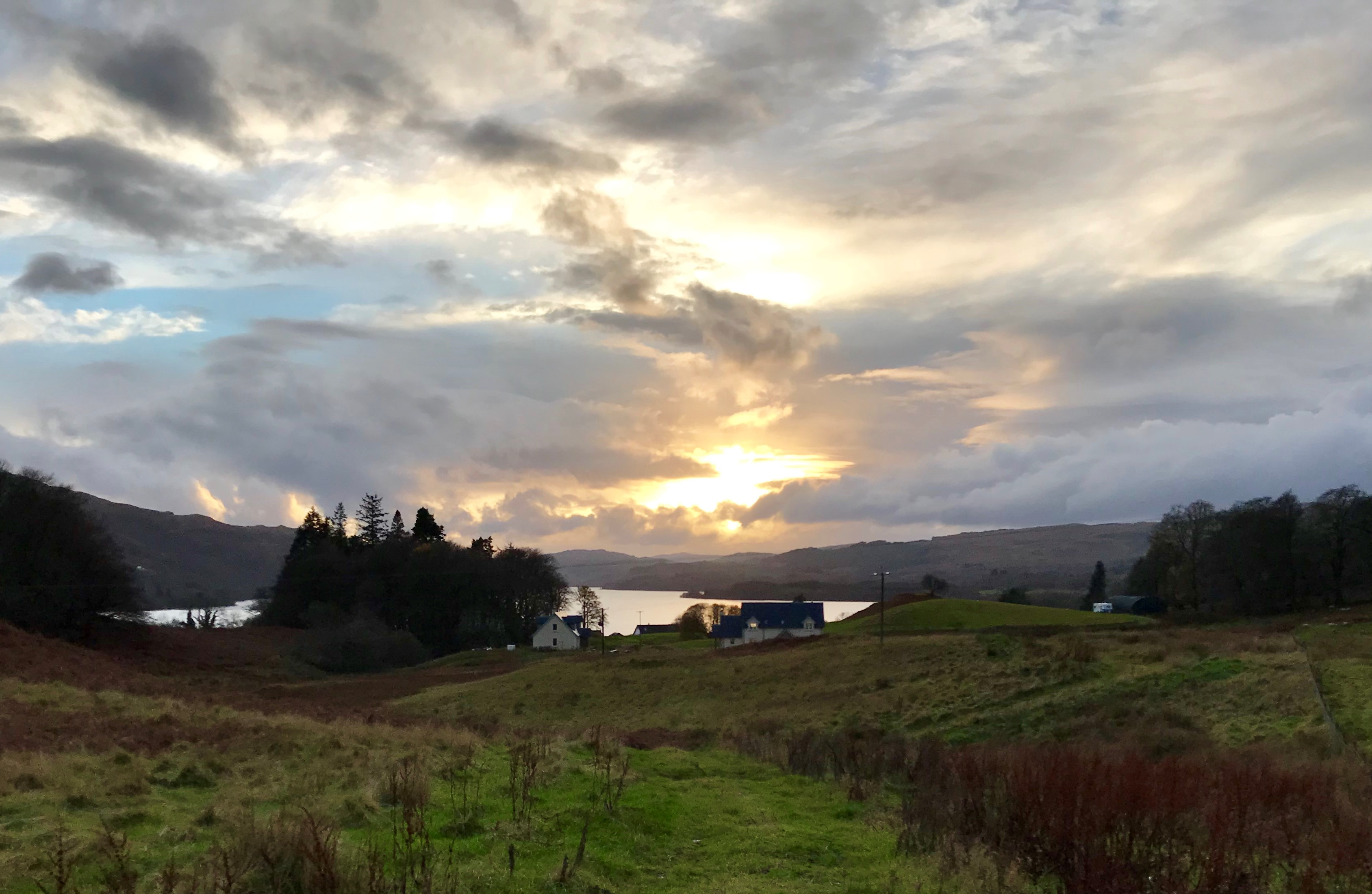 Winter sunsets over Loch Awe